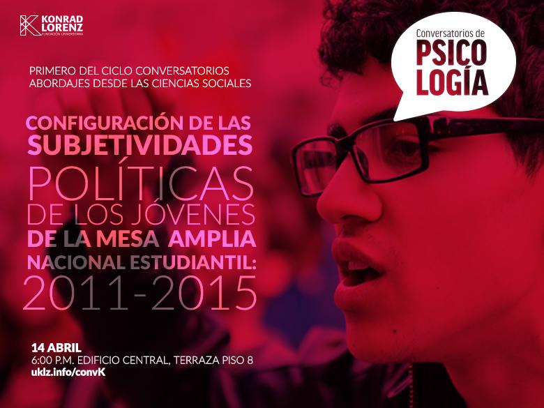 Configuración de las subjetividades políticas de los jóvenes de la mesa amplia nacional estudiantil: 2011-2015