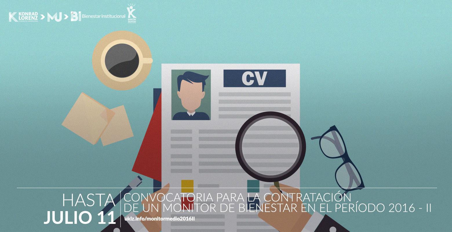 Convocatoria para la contratación de un Monitor de Bienestar