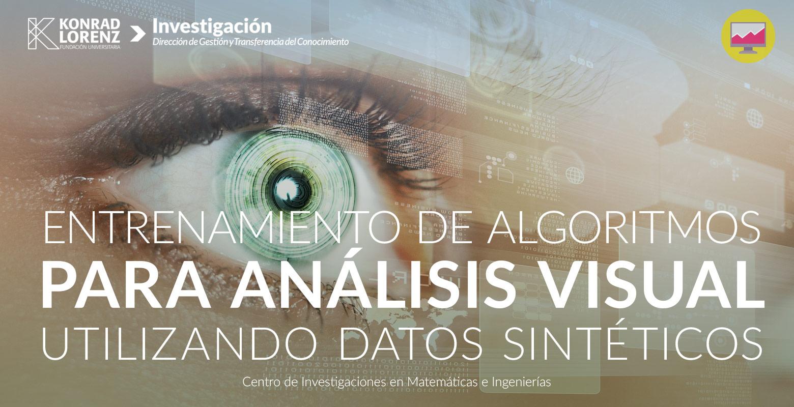 Entrenamiento de algoritmos para análisis visual utilizando datos sintéticos