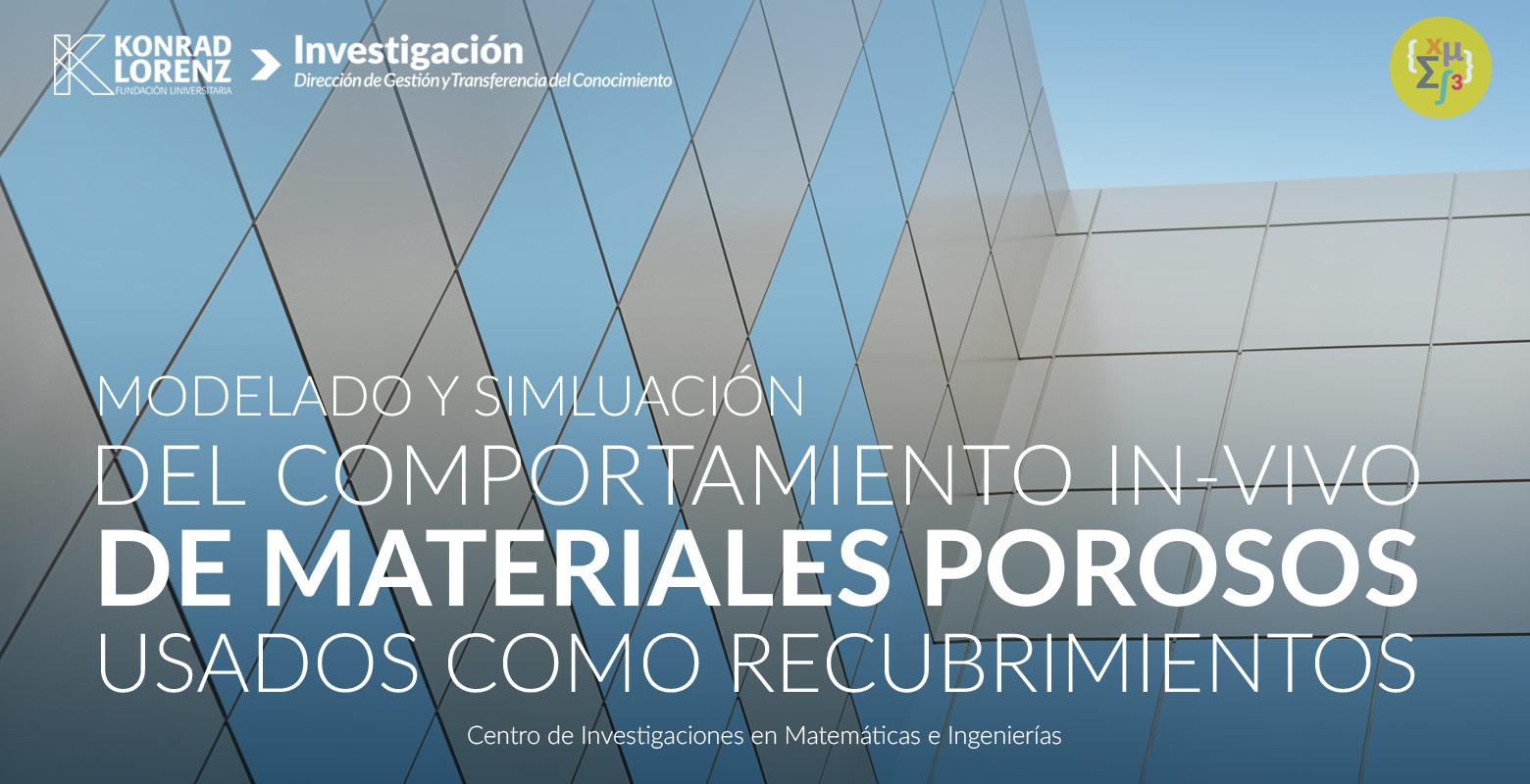 Modelado y simulación del comportamiento in-vivo de materiales porosos usados como recubrimientos