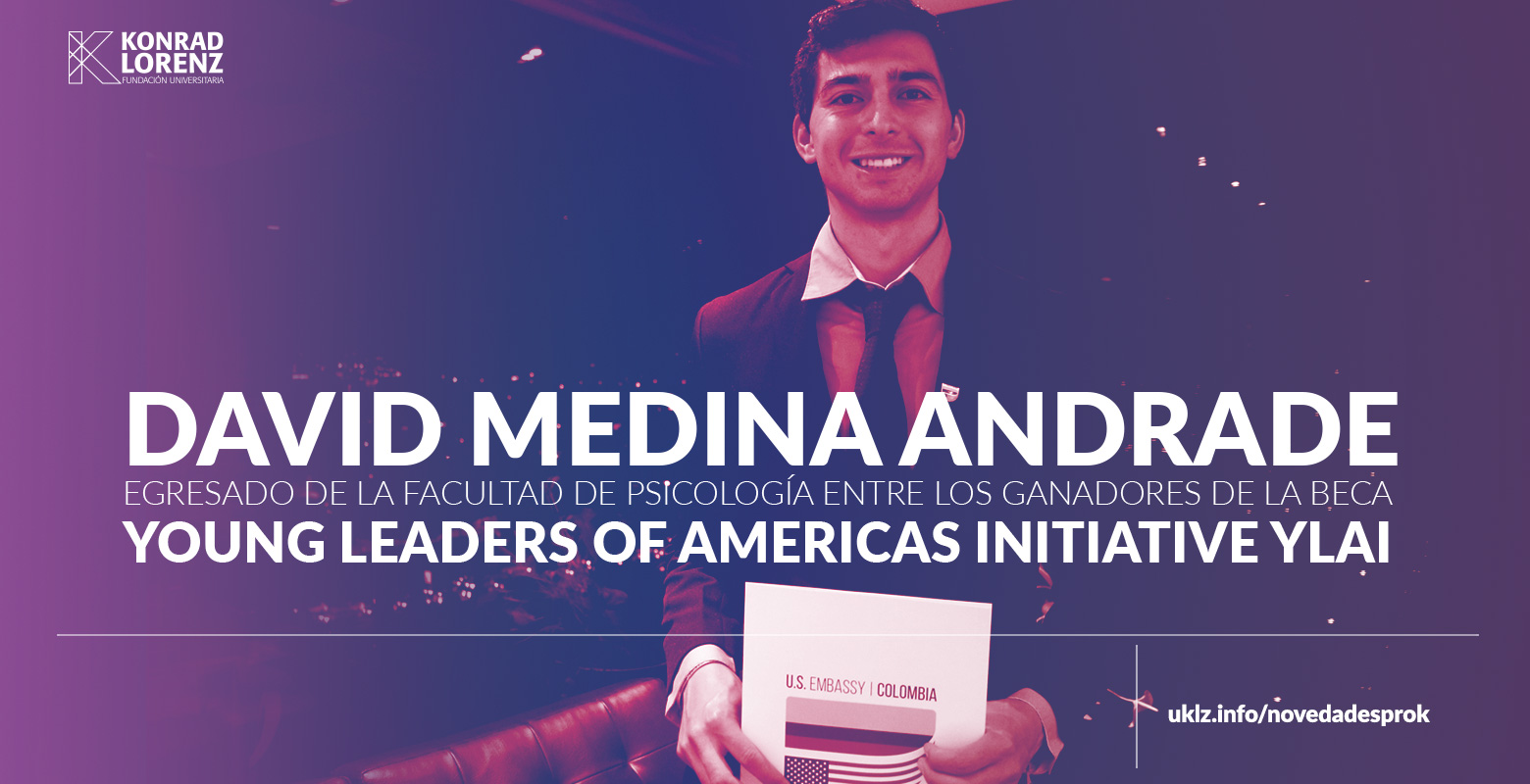 David Medina, egresado de la Facultad de Psicología entre los ganadores de la beca Young Leaders of Americas Initiative YLAI