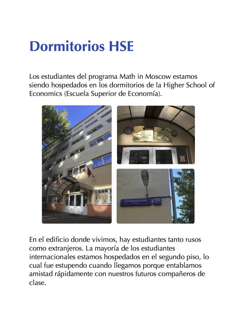Dormitorios HSE 1