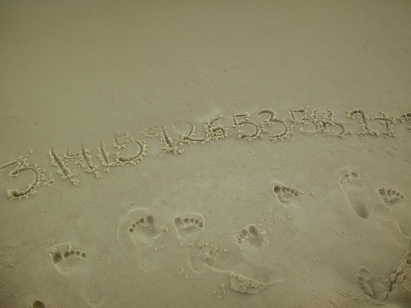 Esto es lo que pasa cuando una matemática está en la playa