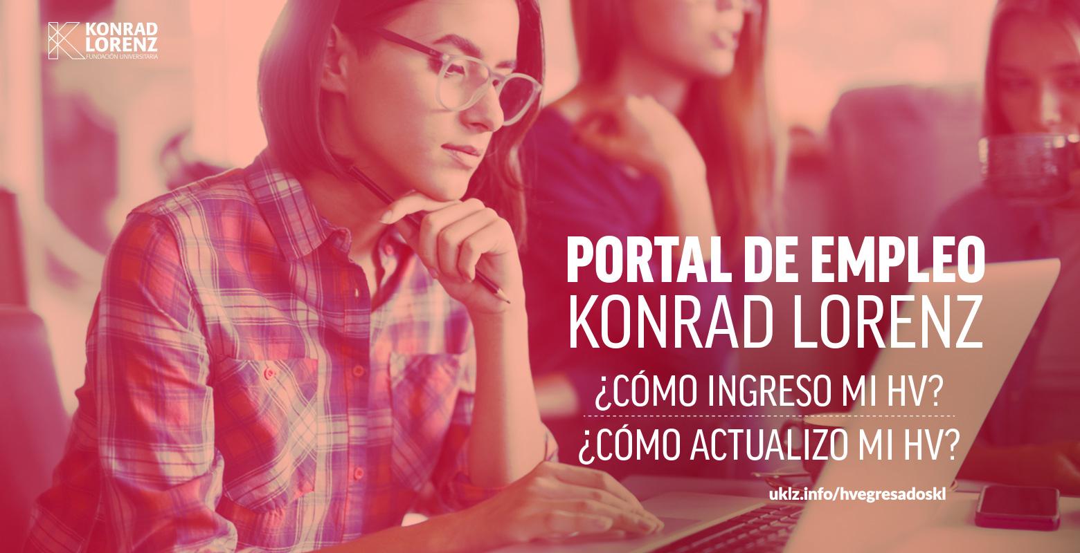 ¿Cómo ingreso y actualizo mi hoja de vida en el Portal de Empleos Konrad Lorenz?