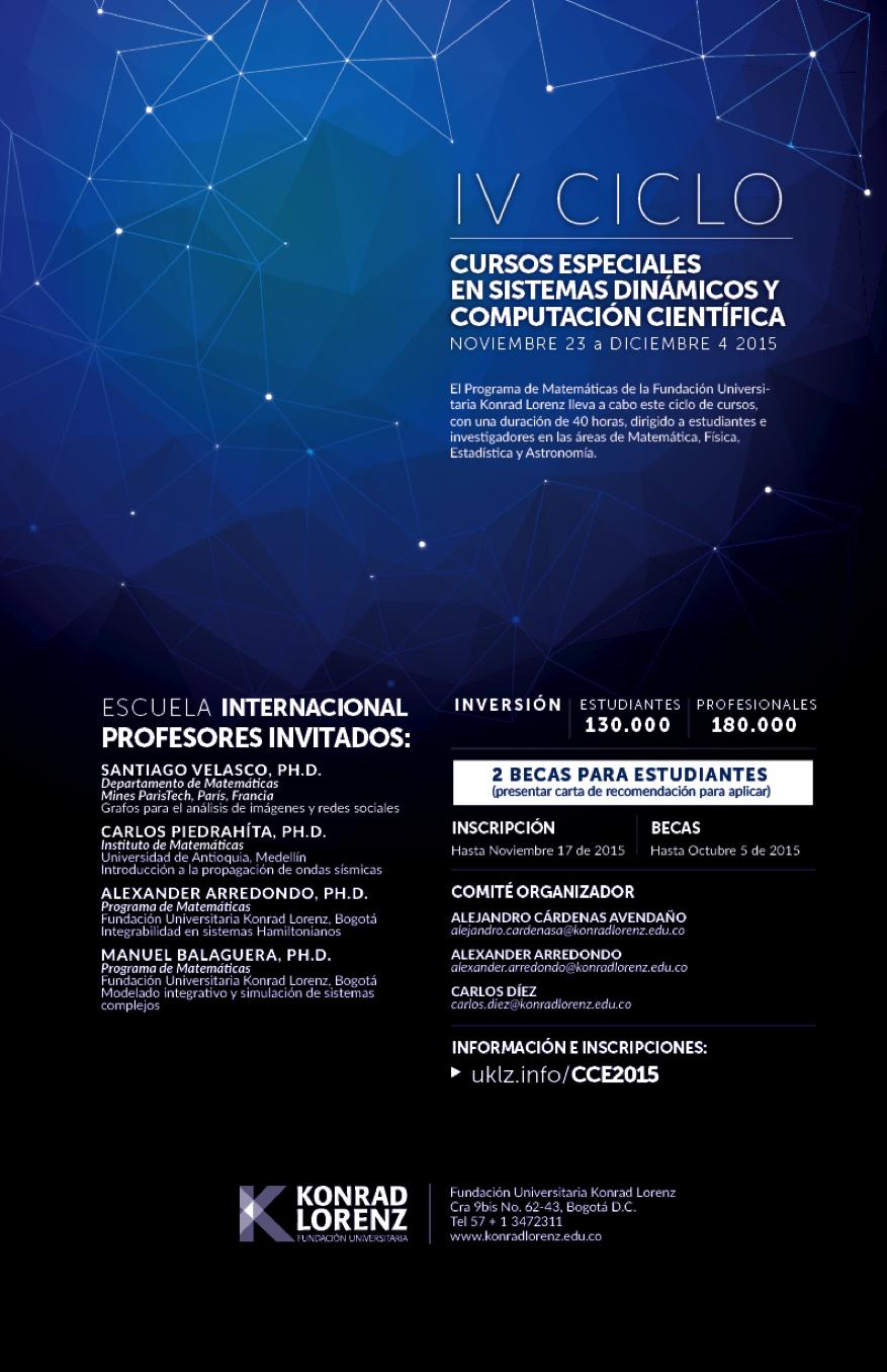 IV Ciclo Cursos Especiales - Sistemas Dinámicos y Computación Científica