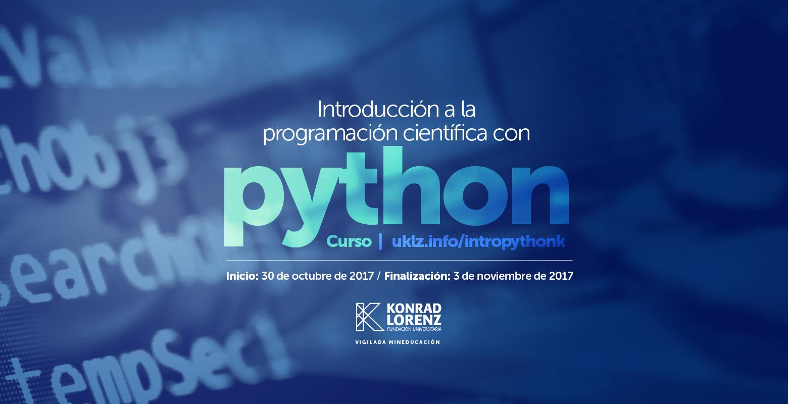 Curso de introducción a la programación científica con Python