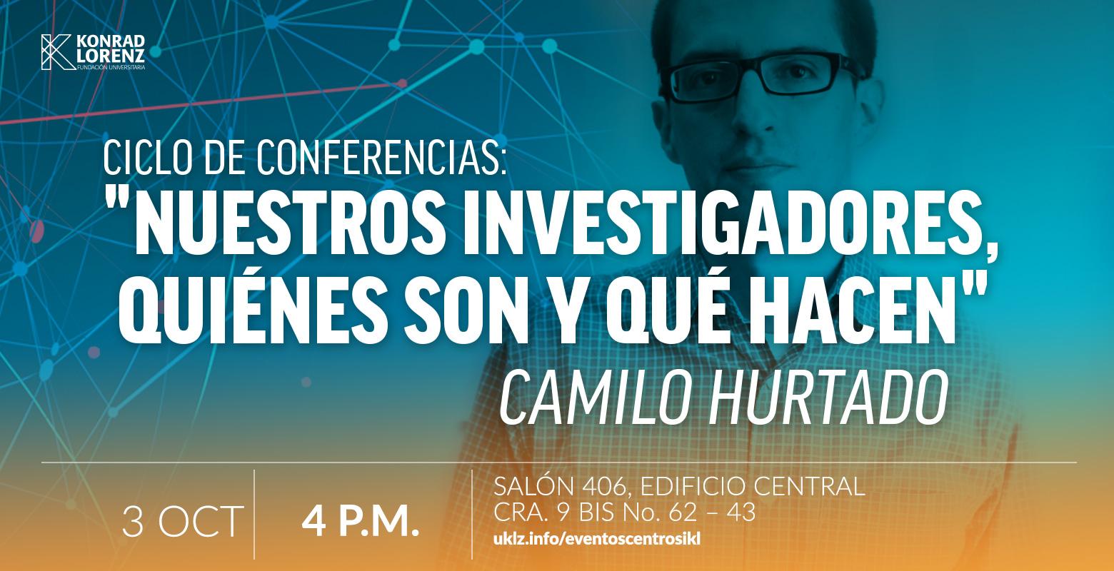 Camilo Hurtado: Estudios sobre el control aversivo. Nuestros Investigadores: Quiénes son y qué hacen.