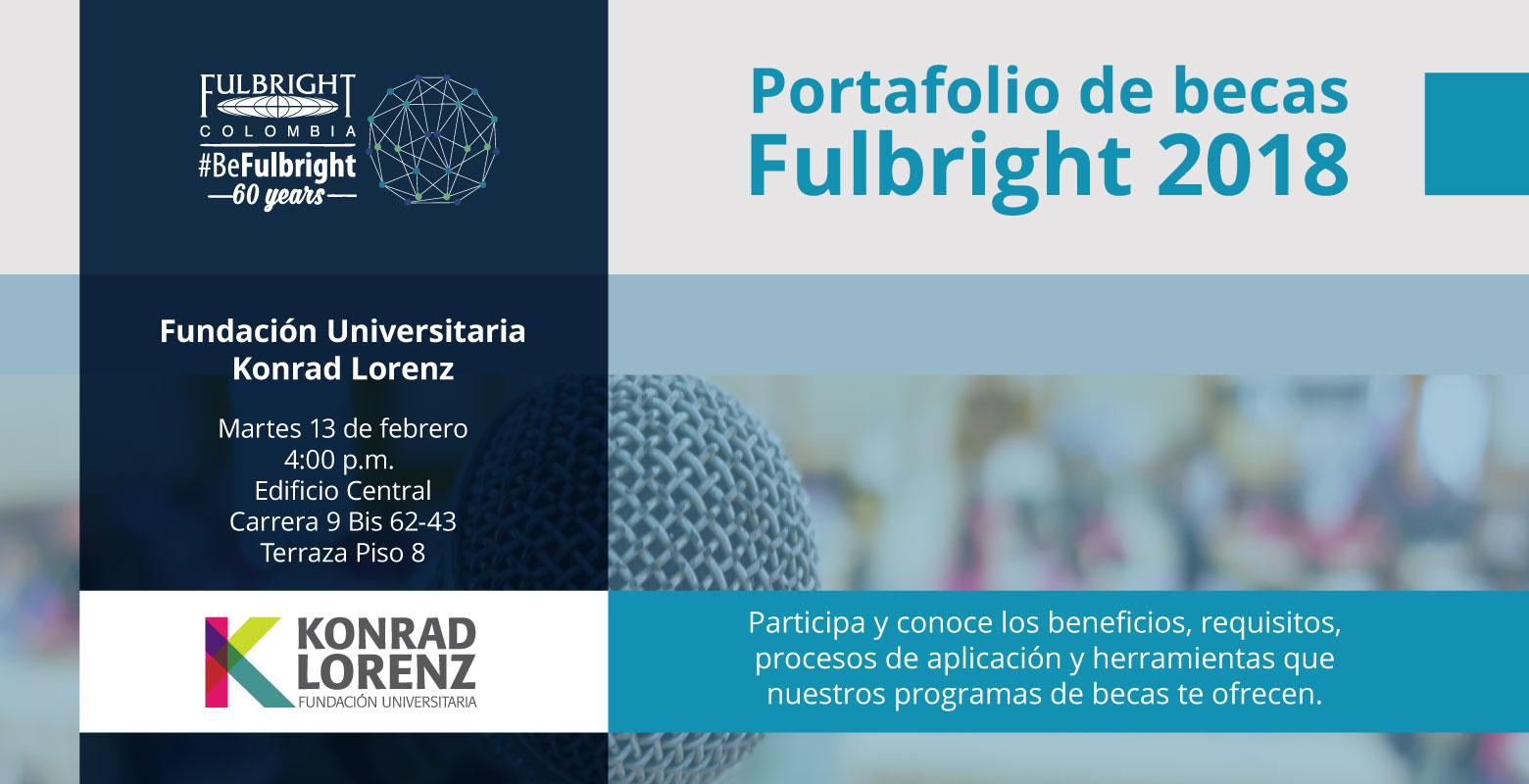 Charla Portafolio de Becas Fulbright 2018