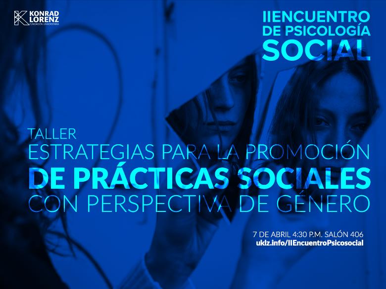 Taller: Estrategias para la promoción de prácticas sociales con perspectiva de género