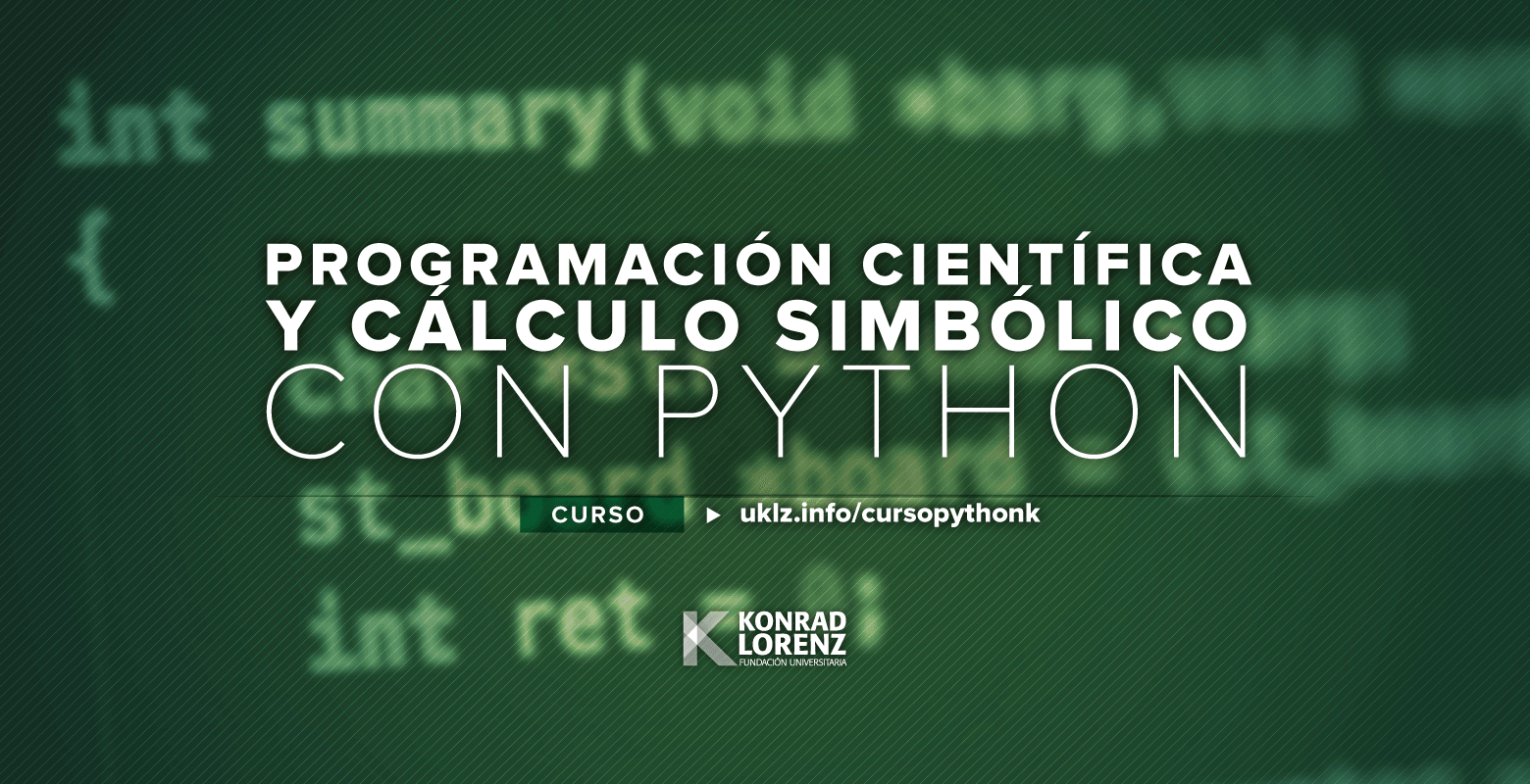 Curso de Programación Científica y Cálculo Simbólico con Python