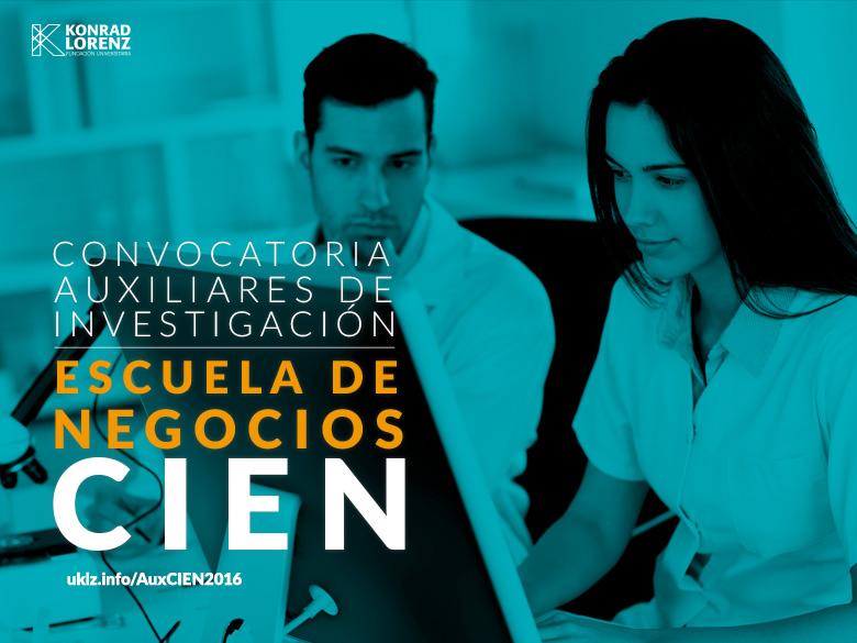 Convocatorias Auxiliares de Investigación Escuela de Negocios 2016-2