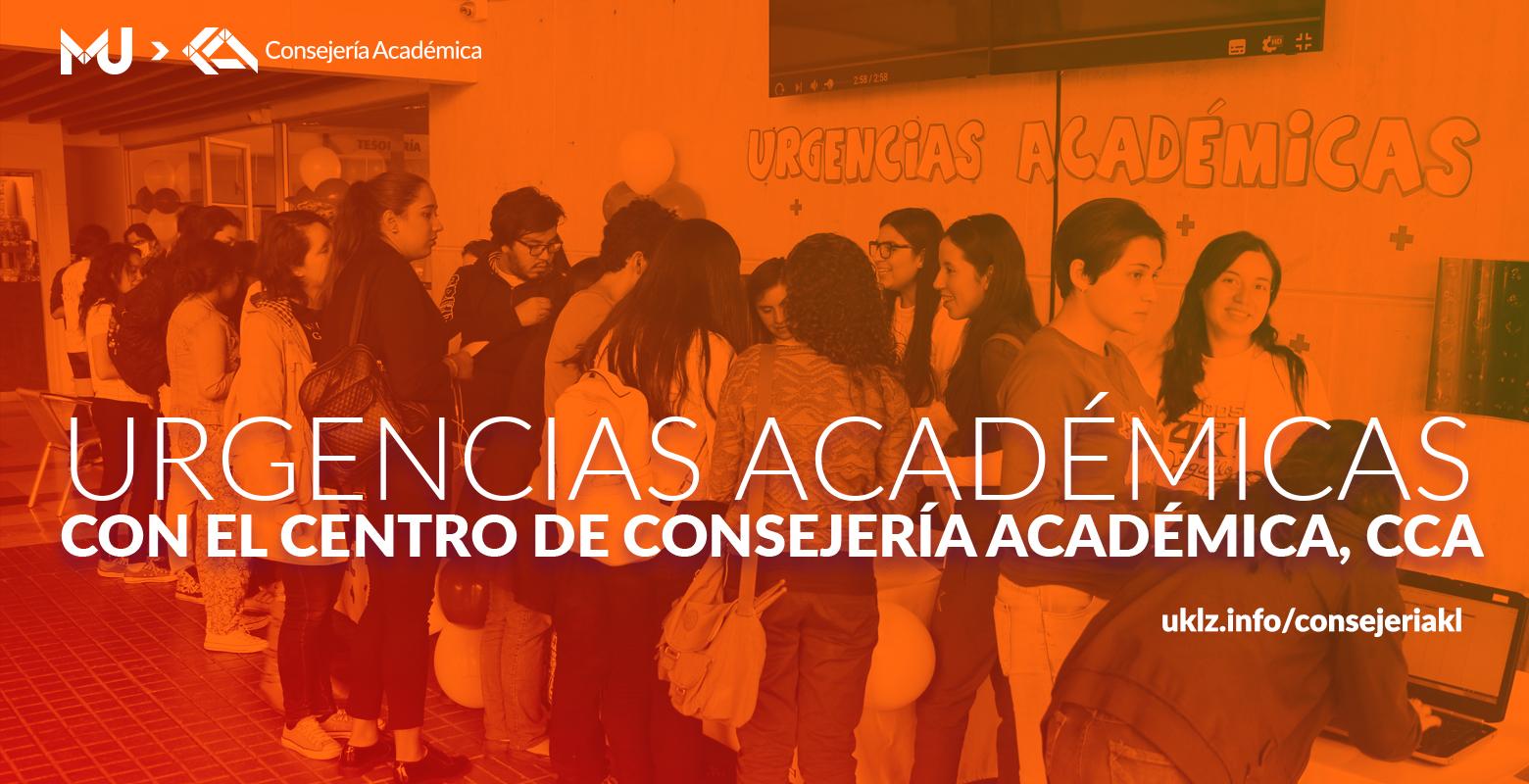 Urgencias Académicas con el Centro de Consejería Académica, CCA.