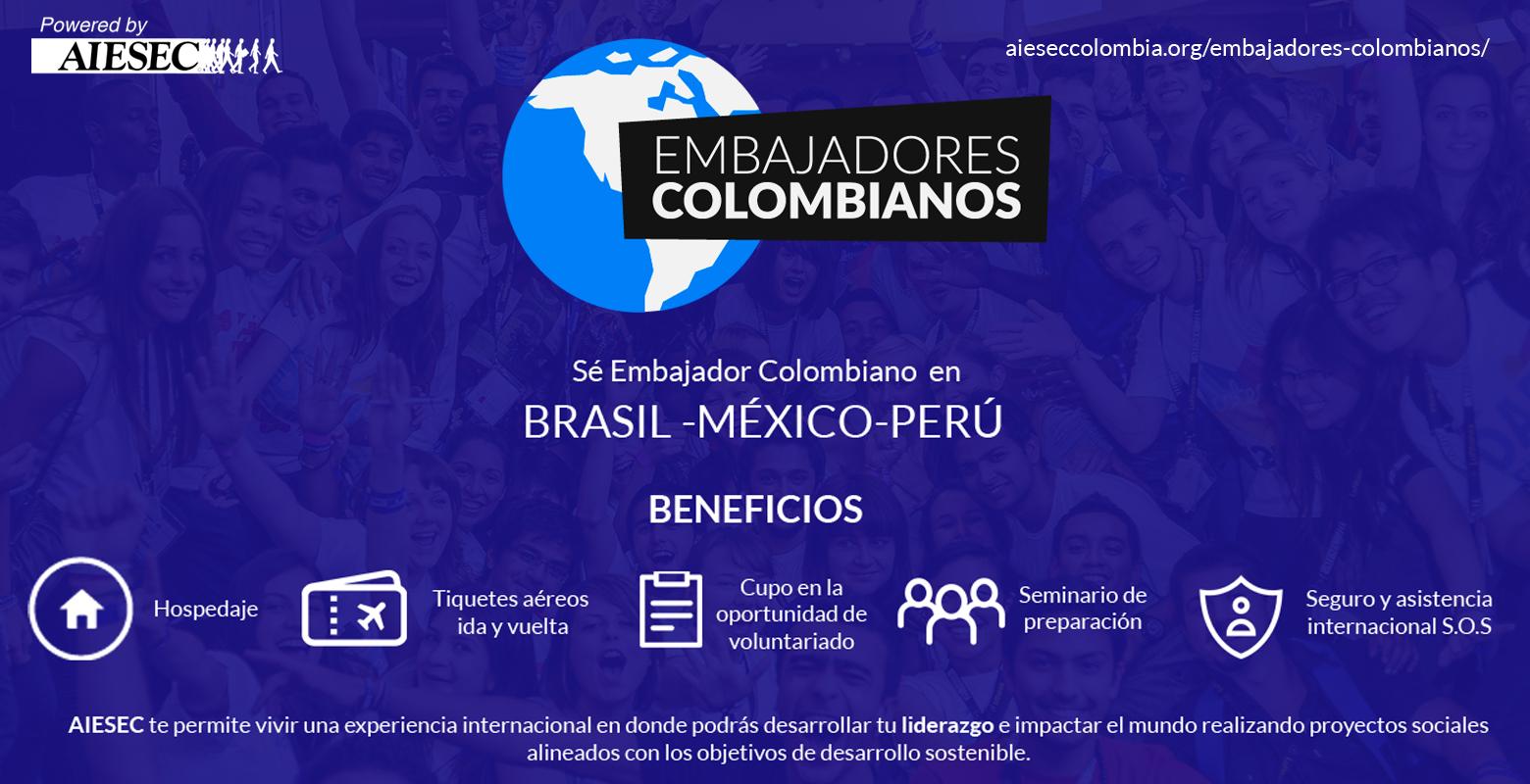 ¡Conviértete en Embajador Colombiano!