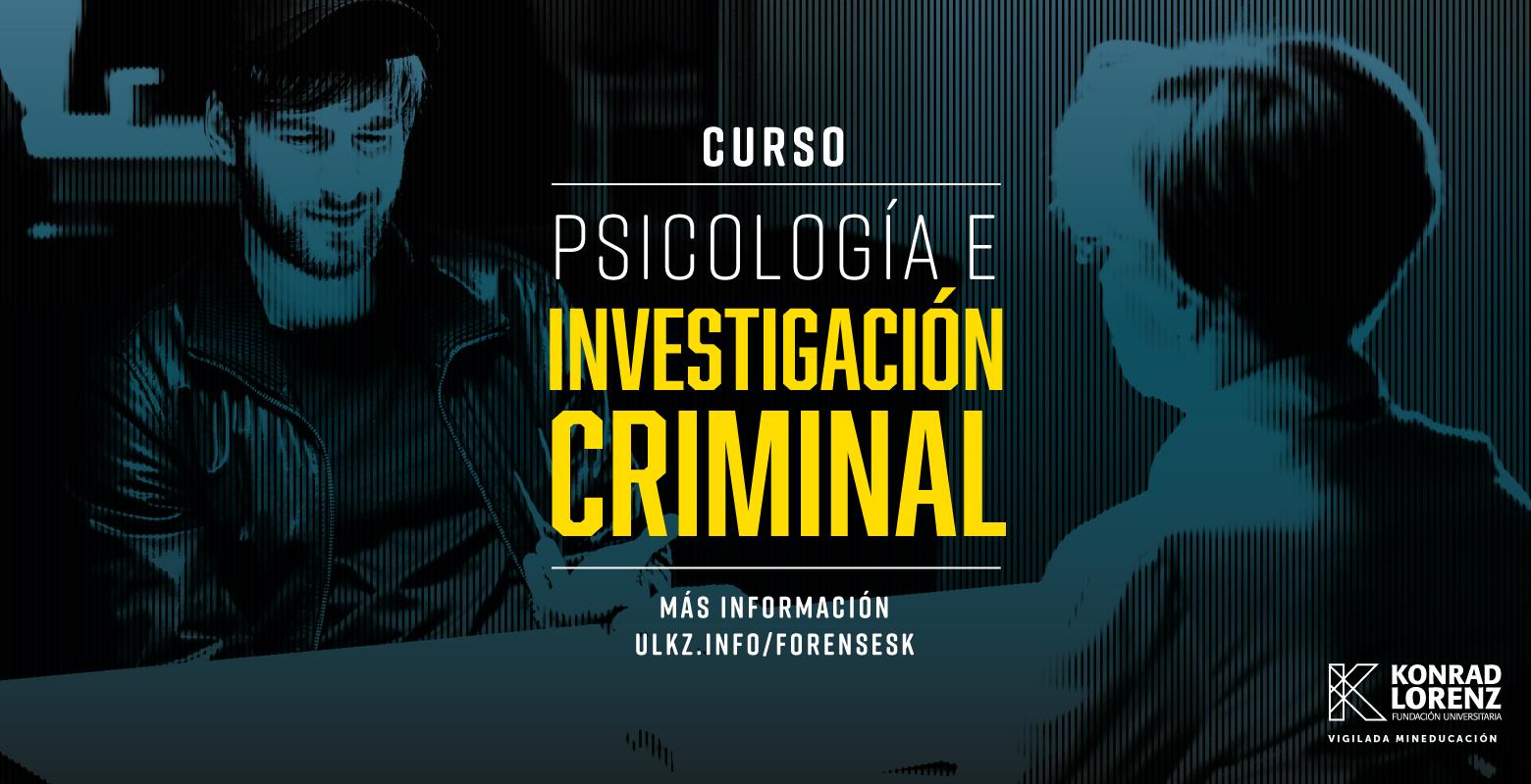 Curso en Psicología e Investigación Criminal