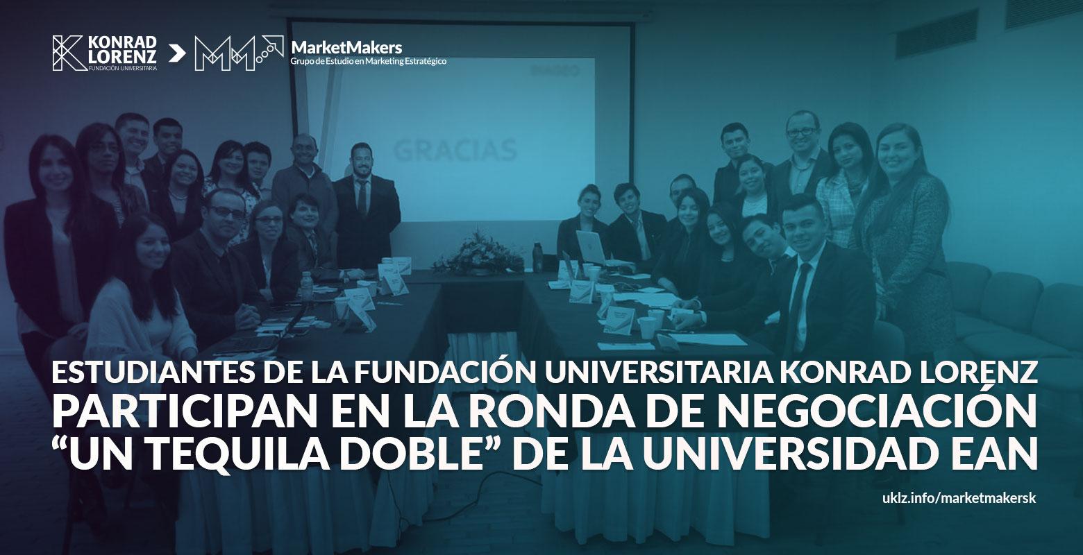 Estudiantes de la Fundación Universitaria Konrad Lorenz en la ronda de negociación