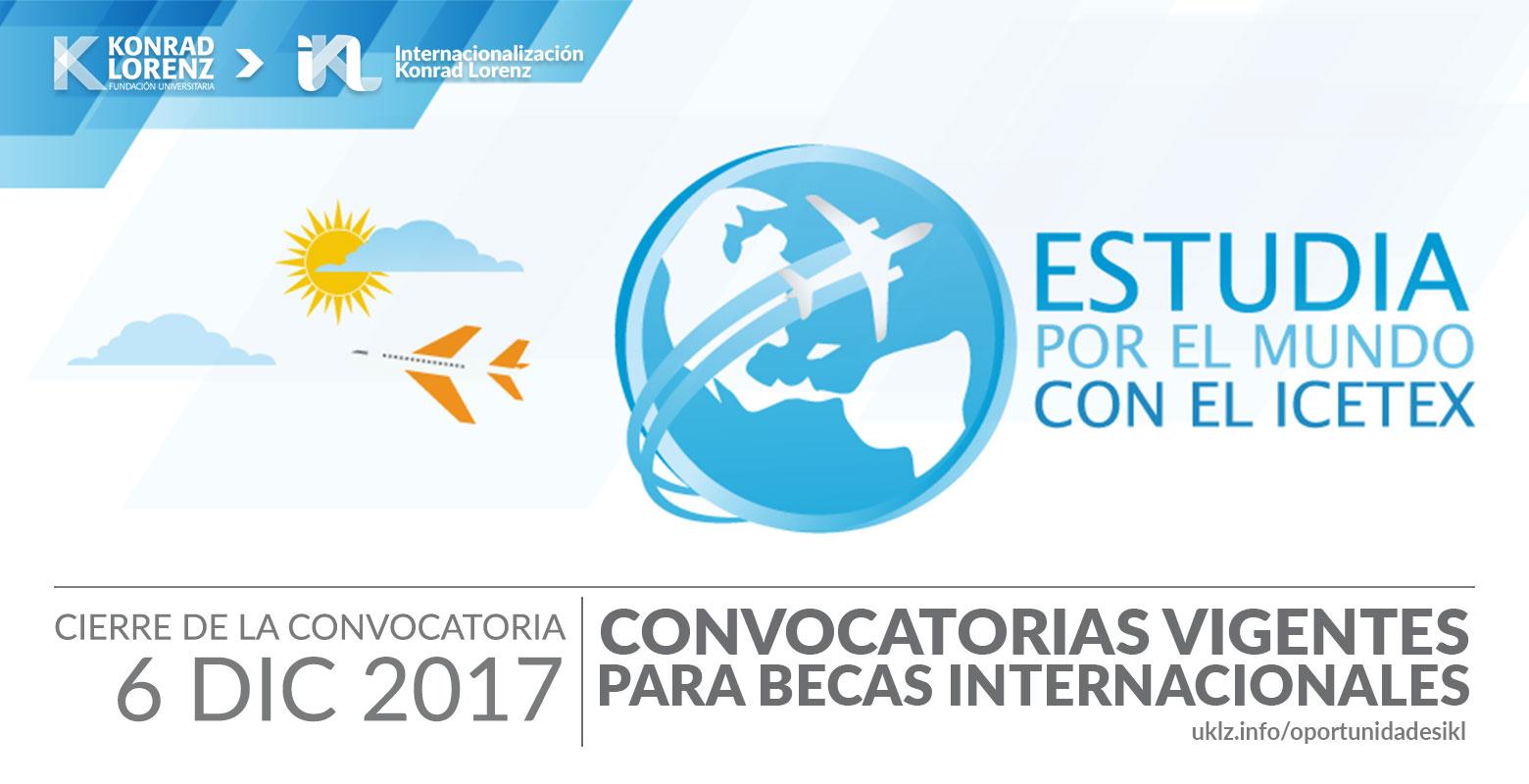Convocatorias vigentes para becas internacionales ICETEX