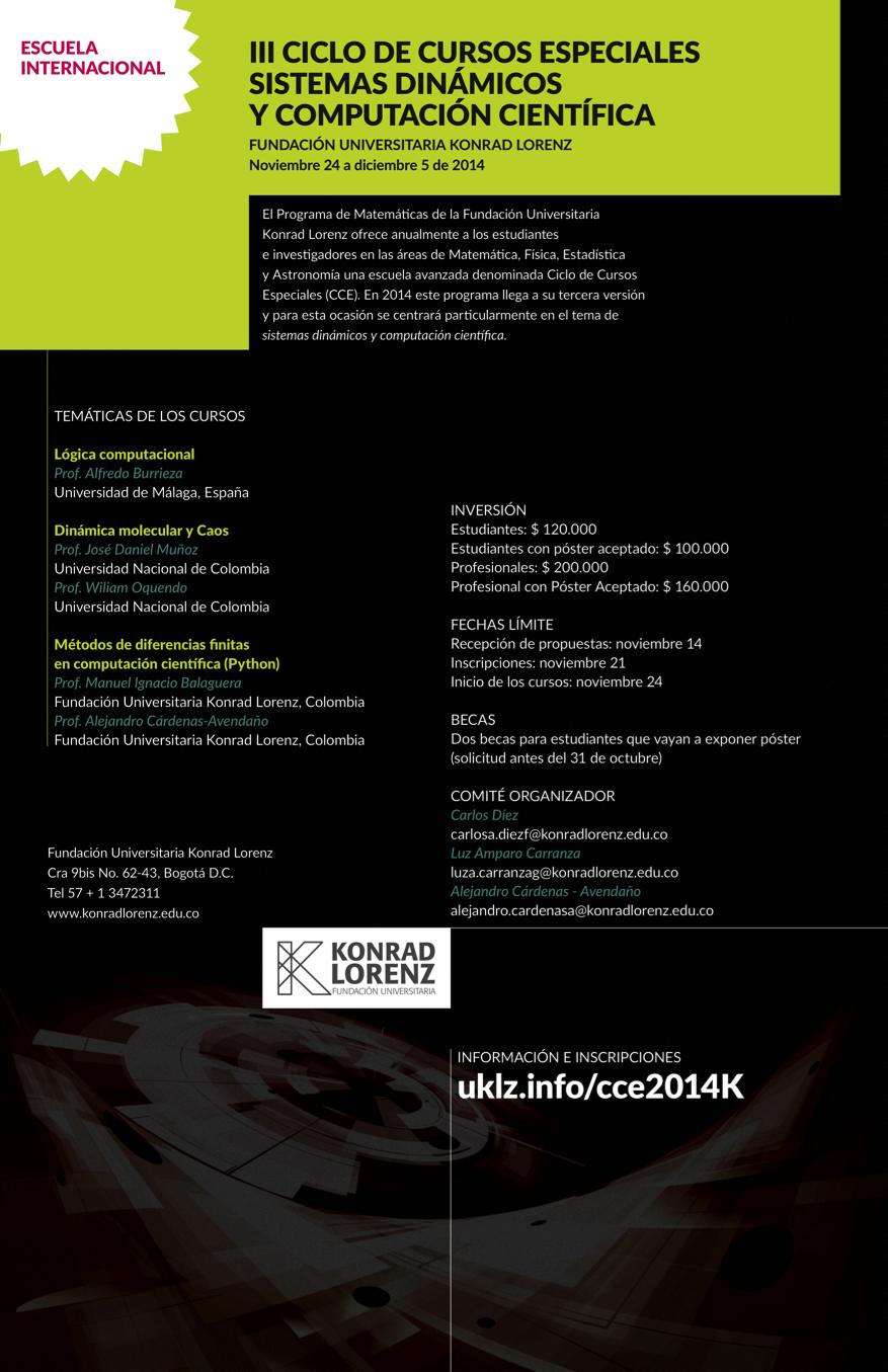 III Ciclo de Cursos Especiales - Sistemas Dinámicos y Computación Científica