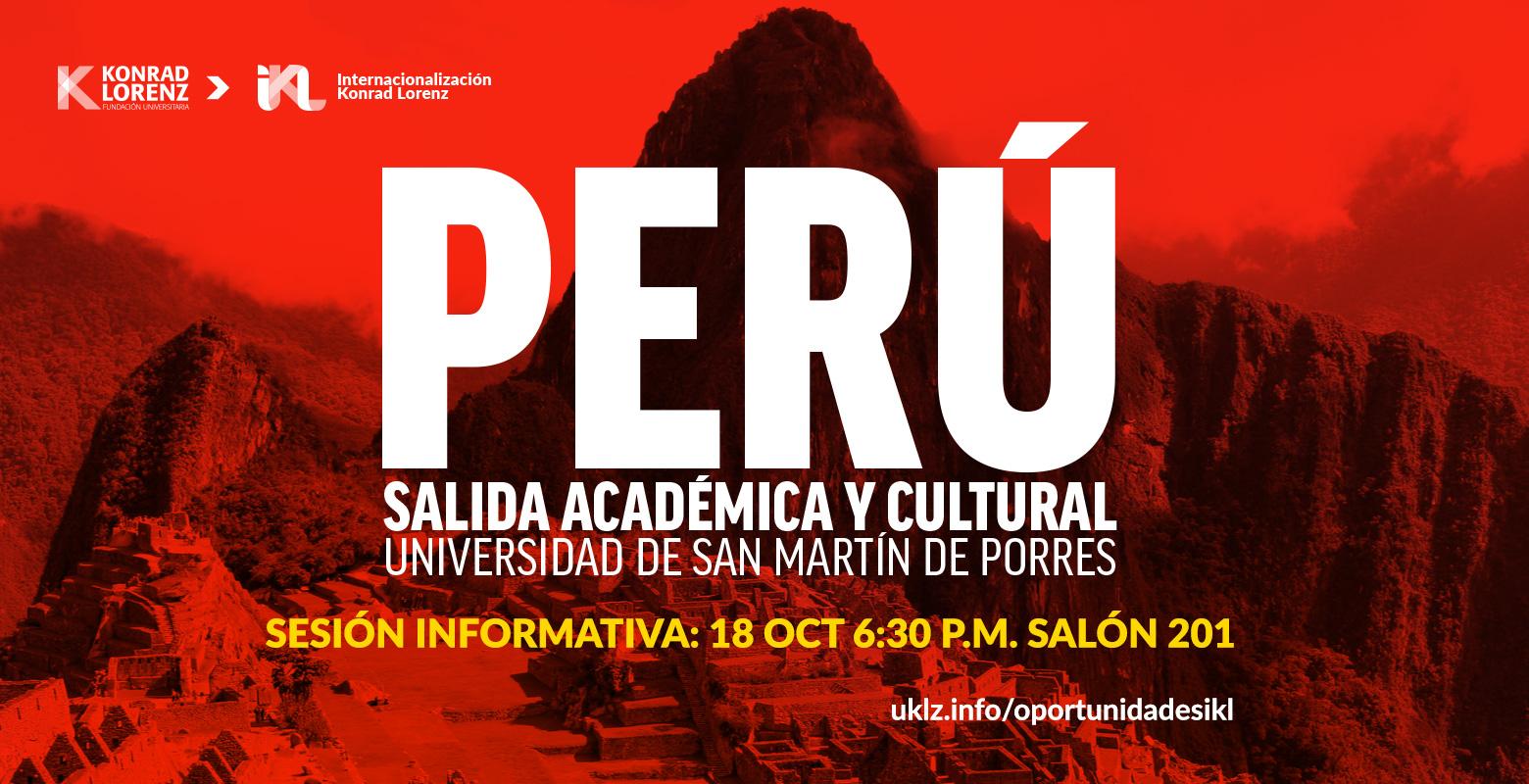 Salida académica y cultural a Perú.