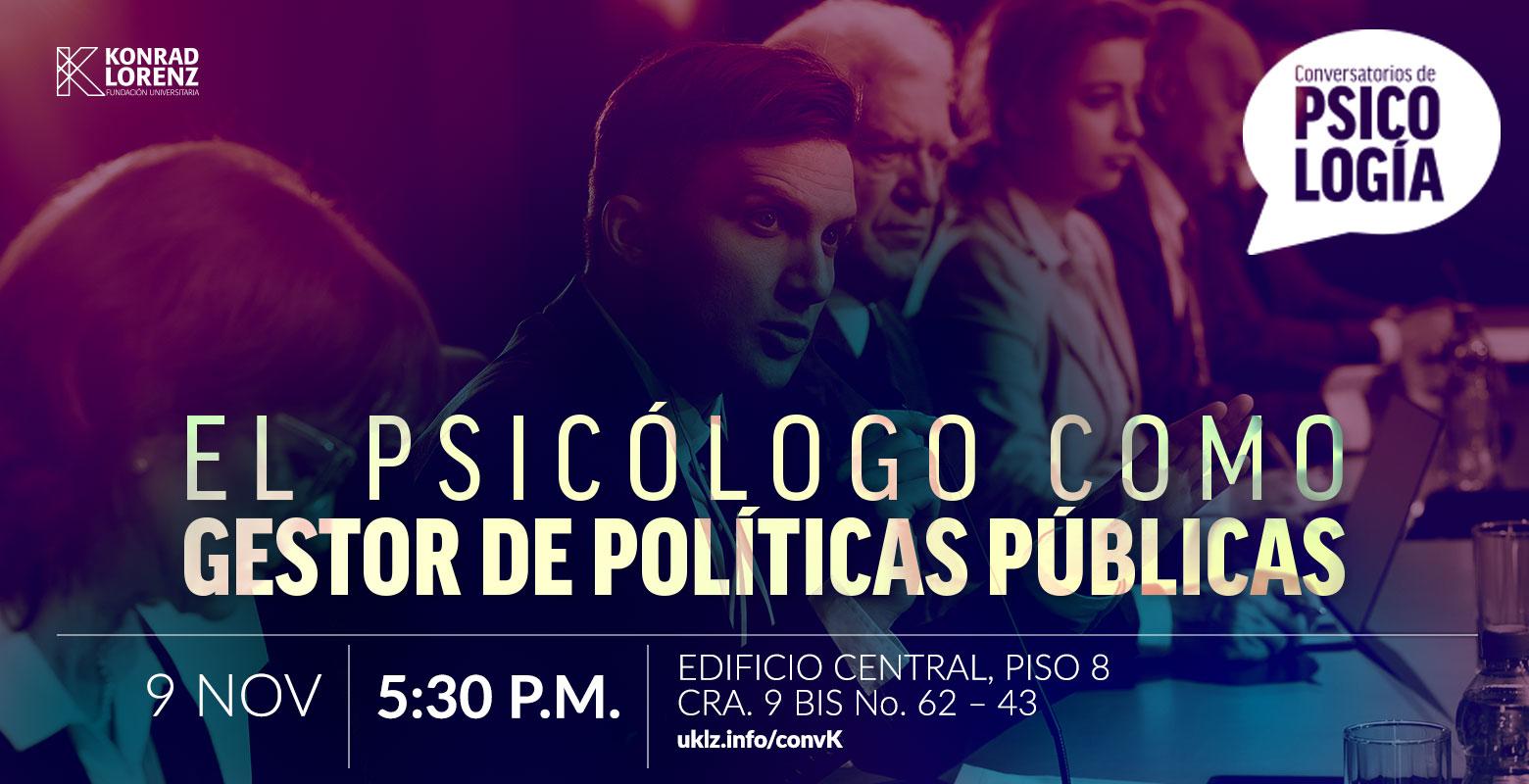 Conversatorio: El psicólogo como gestor de políticas públicas