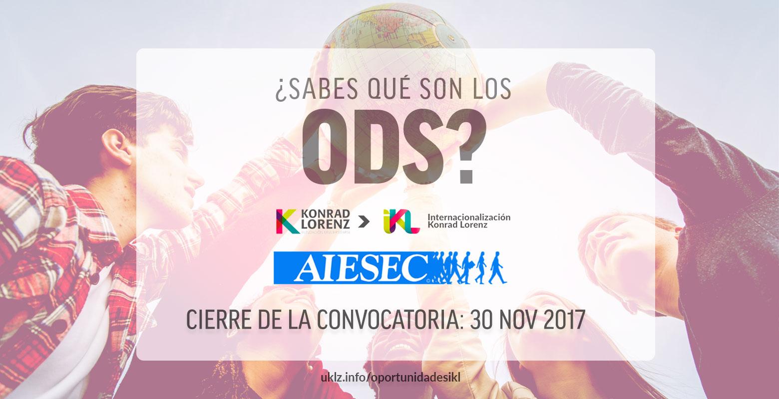 Sé un voluntario global con AIESEC y la Cancillería Konrad Lorenz