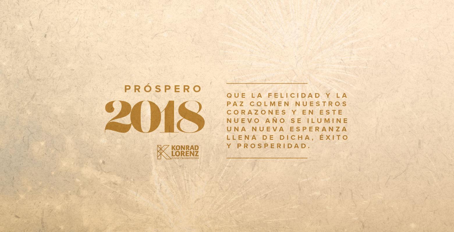 ¡Próspero 2018!