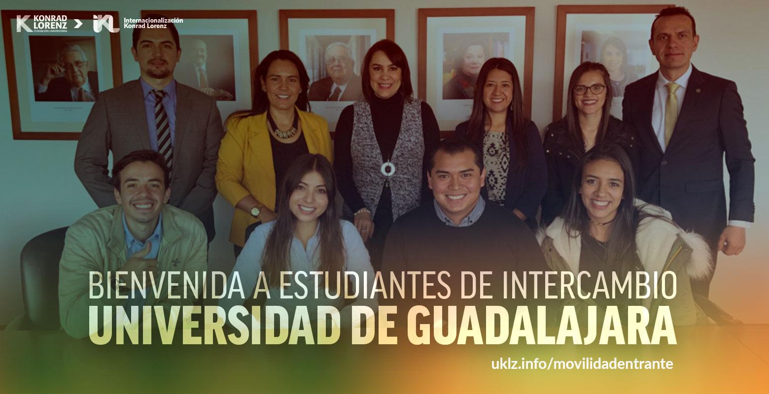 Bienvenida a estudiantes de intercambio Universidad de Guadalajara