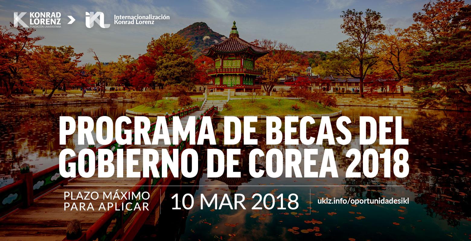 Programa de Becas del Gobierno de Corea 2018
