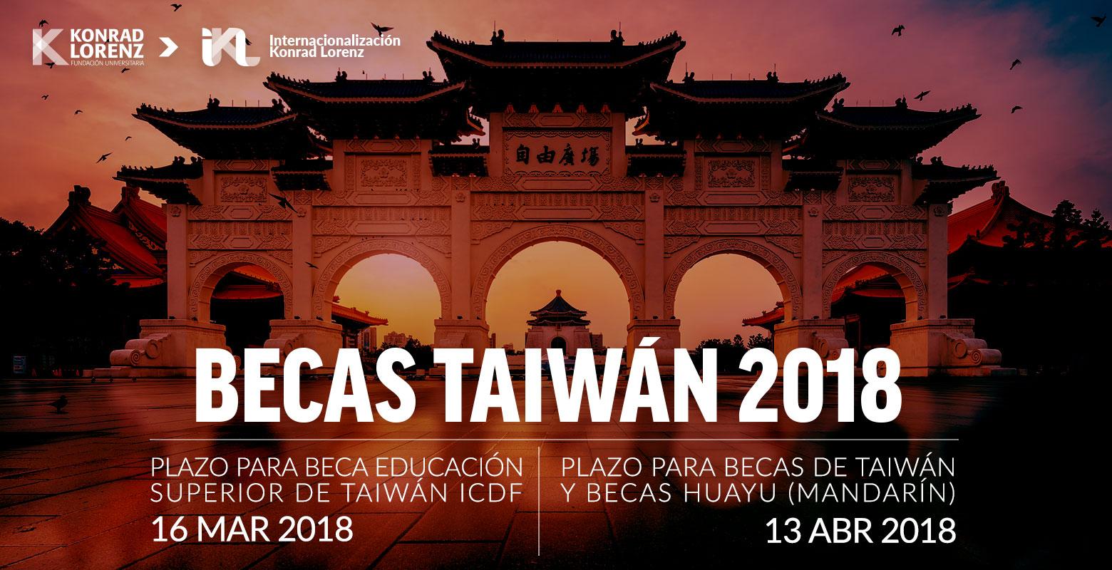 Programa de Becas Taiwán 2018