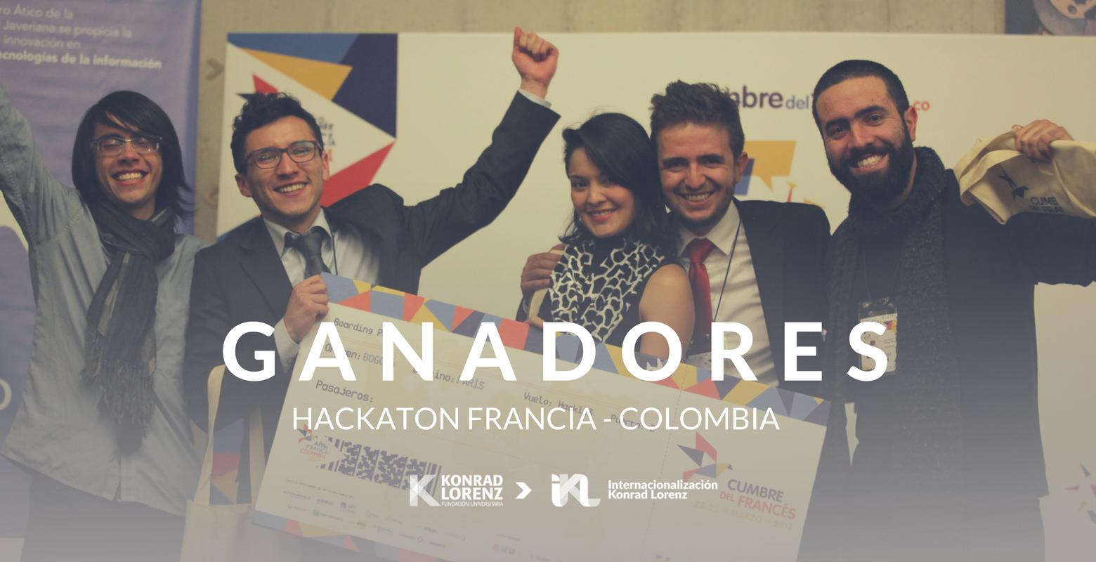 Konradista entre los ganadores de la Hackaton Francia - Colombia