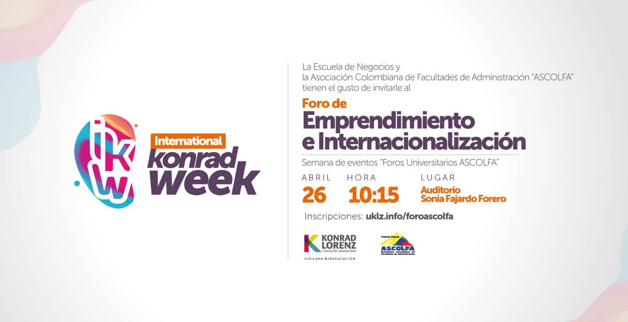 Foro: Emprendimiento e Internacionalización