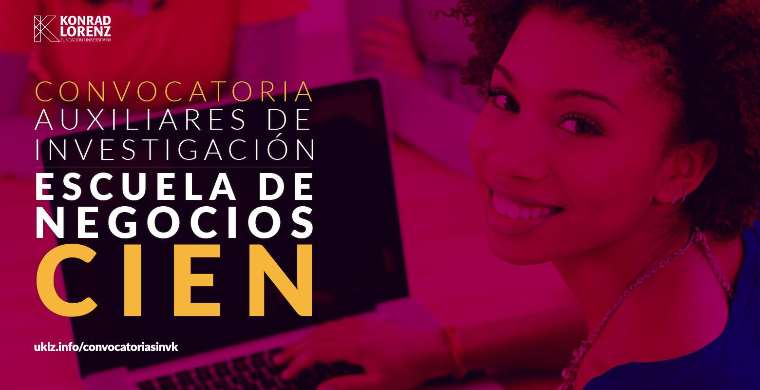 Convocatoria para designación de auxiliares de investigación a proyectos institucionales de investigación de la Escuela de Negocios 2017-II