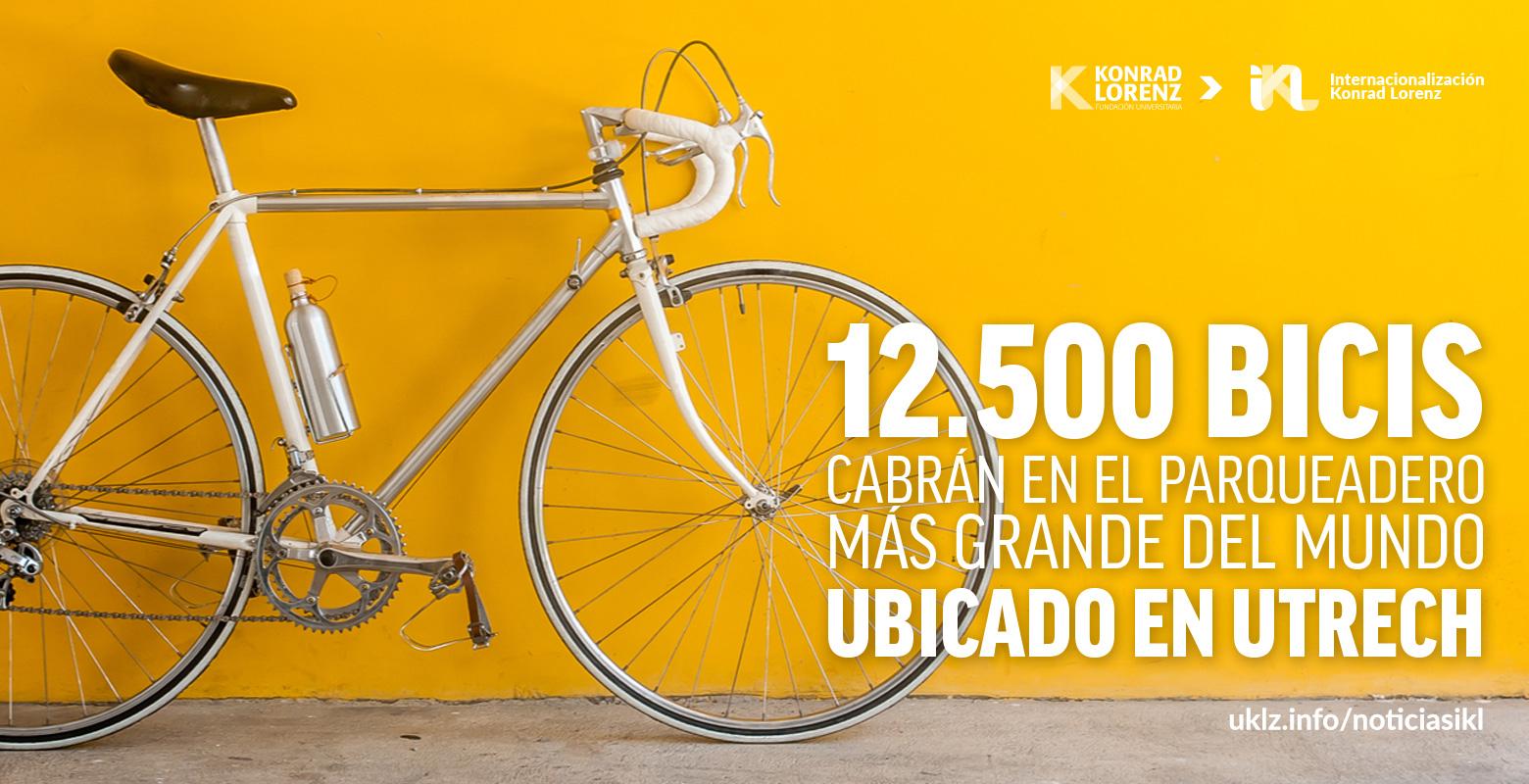 12.500 bicis cabrán en el parqueadero más grande del mundo ubicado en Utrech