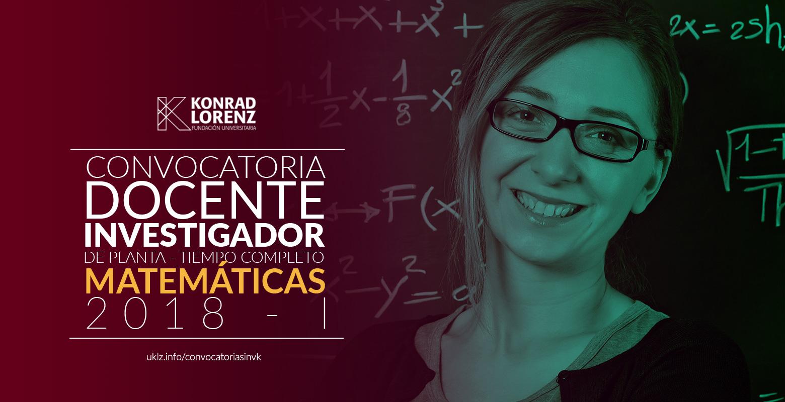 Convocatoria para Docentes Investigadores Matemáticas