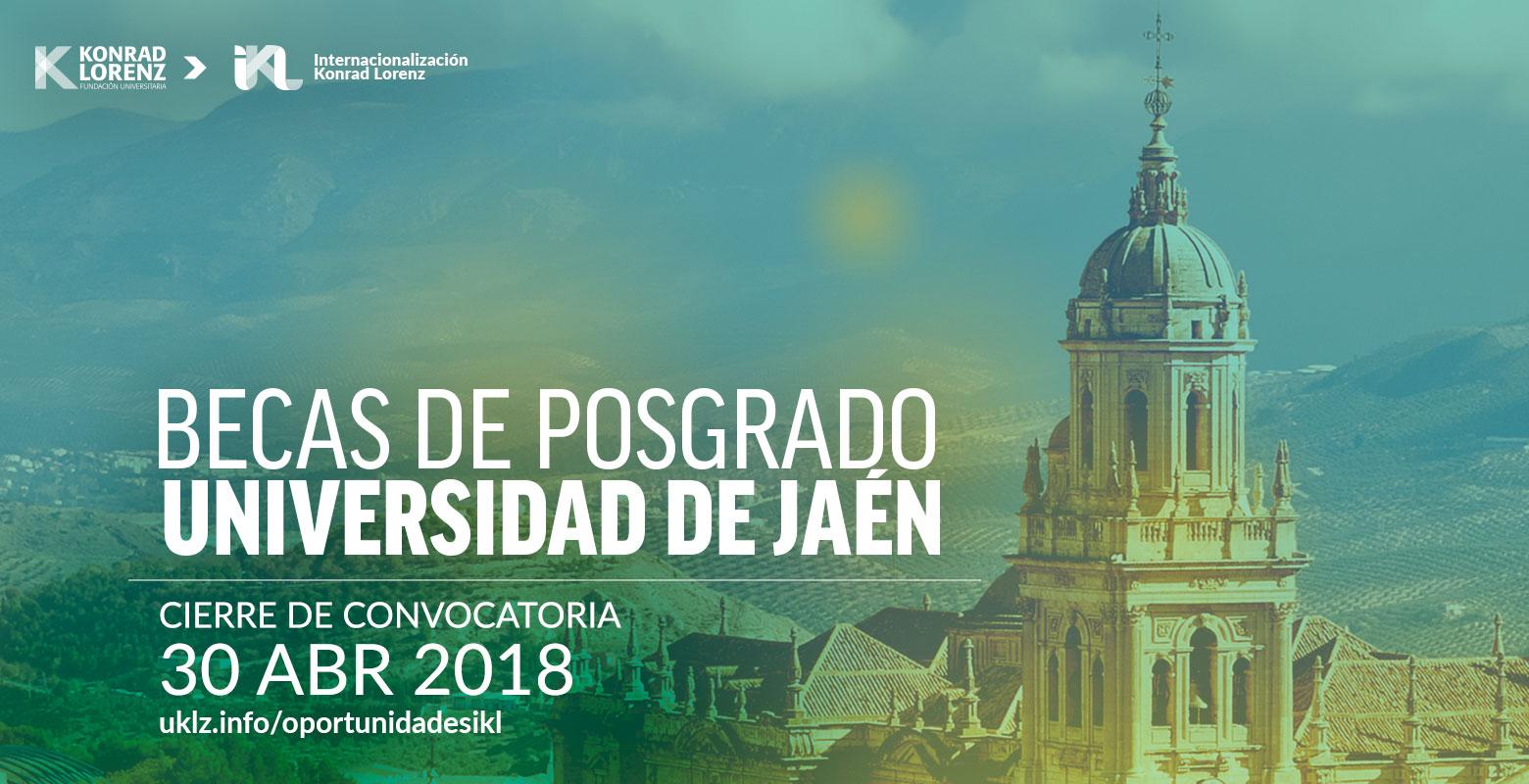 Becas para Posgrados en la Universidad de Jaén