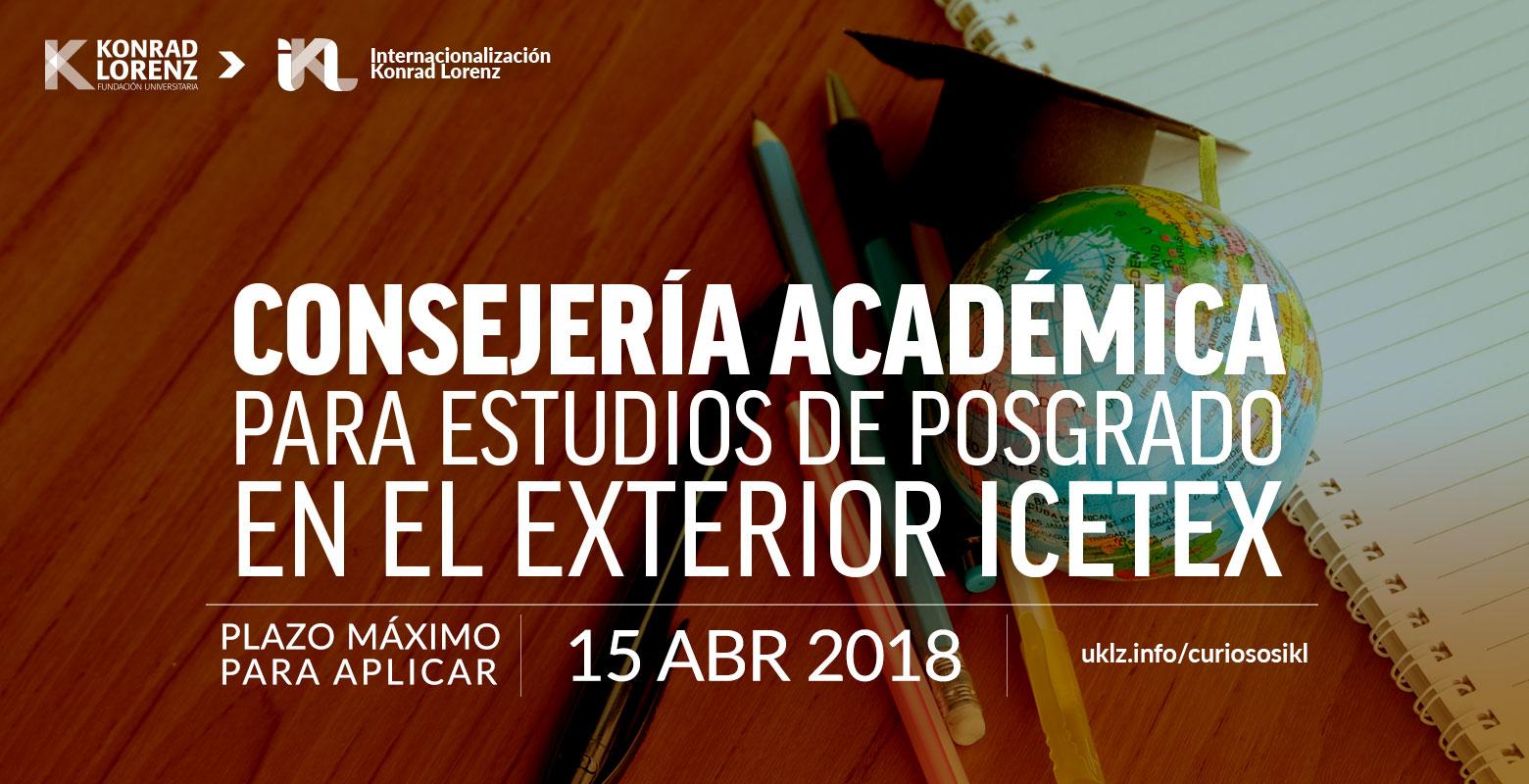 Consejería académica para estudios de posgrado en el exterior ICETEX
