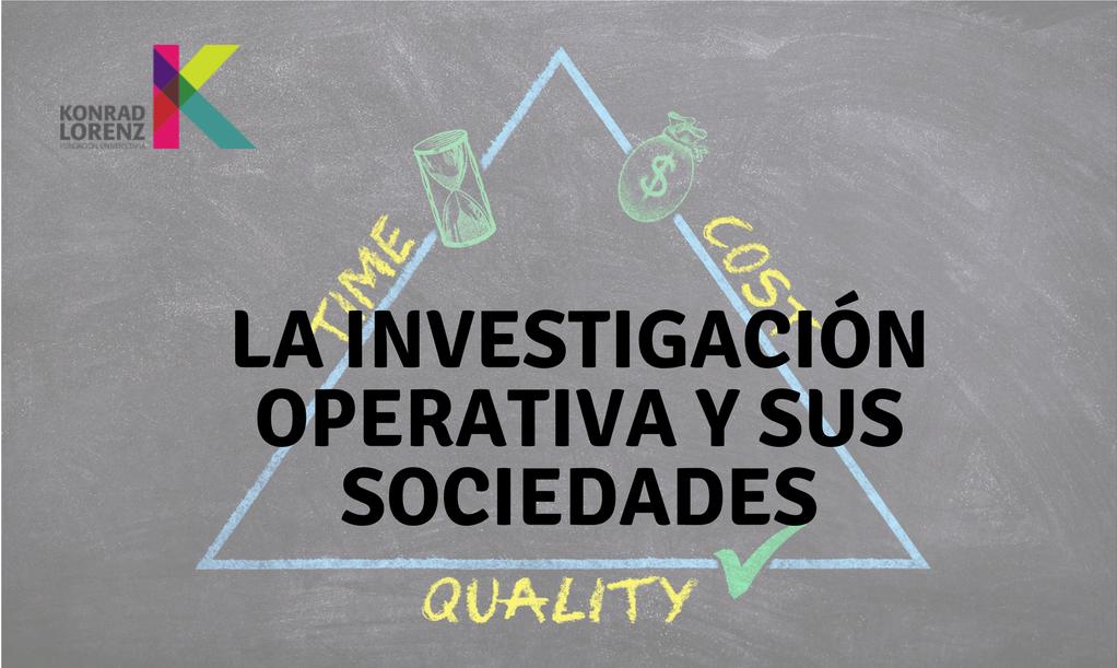 La investigación operativa y sus sociedades