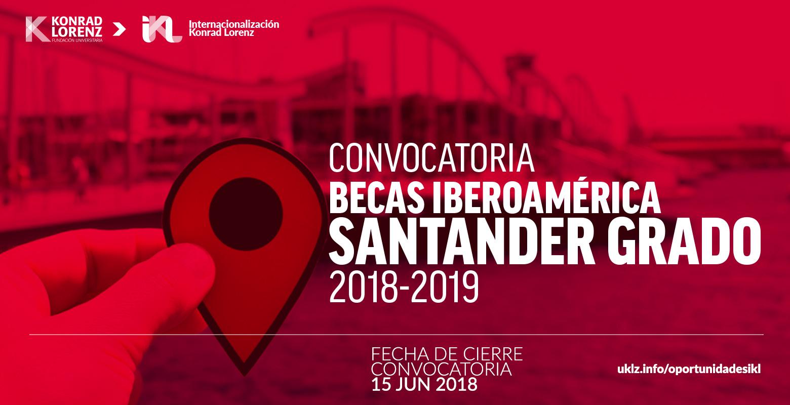 Convocatoria Becas Iberoamérica. Santander Grado 2018-2019