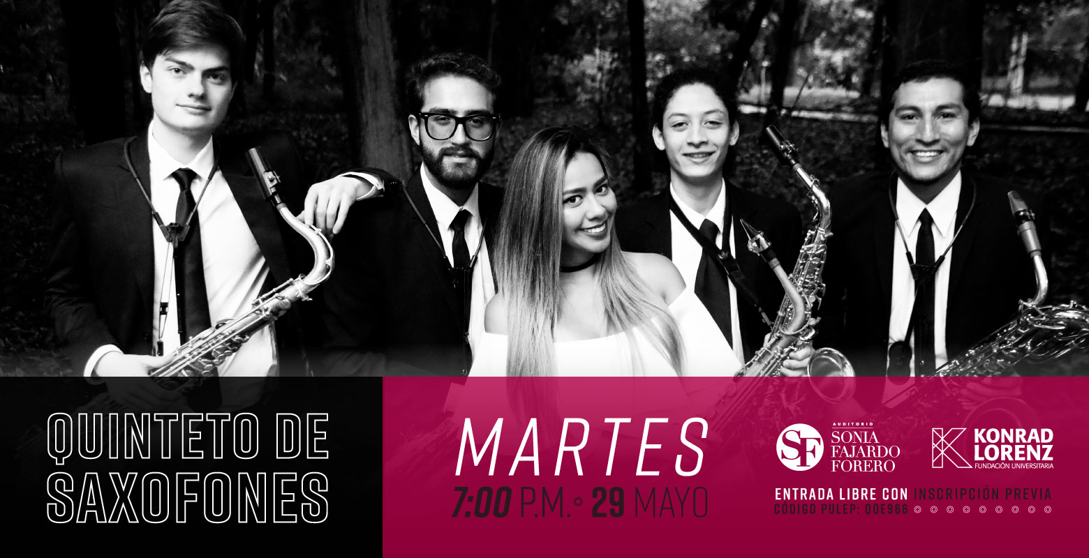 Concierto: Quinteto de Saxofones de la Orquesta Filarmónica de Bogotá