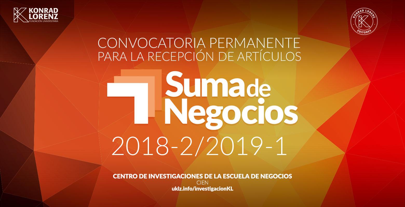 Convocatoria permanente recepción artículos Suma de Negocios 2018-2/2019-1