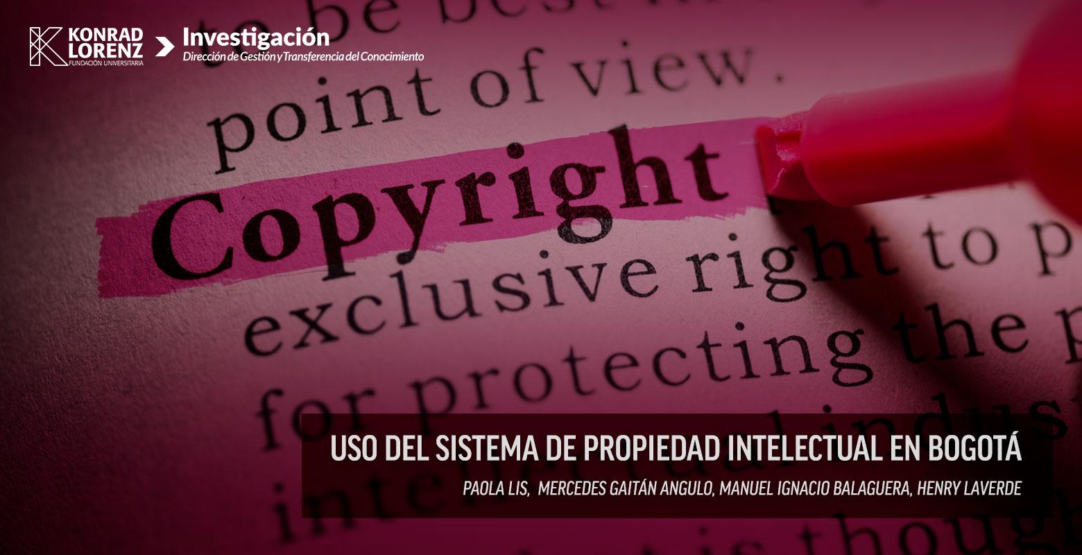 Uso del sistema de propiedad intelectual en Bogotá