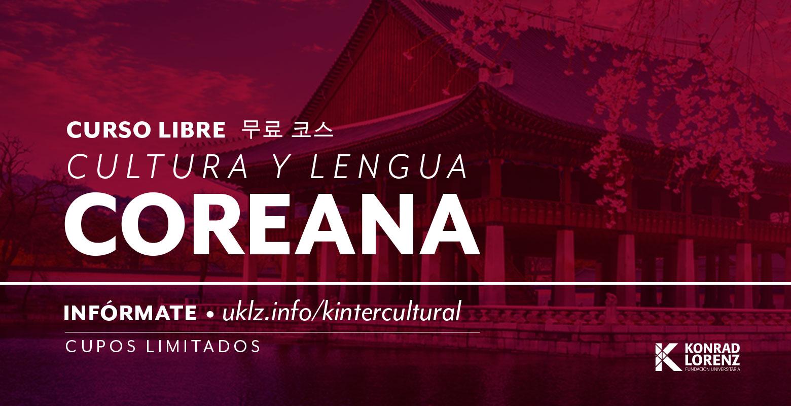 Curso libre extracurricular de Cultura y lengua Coreana