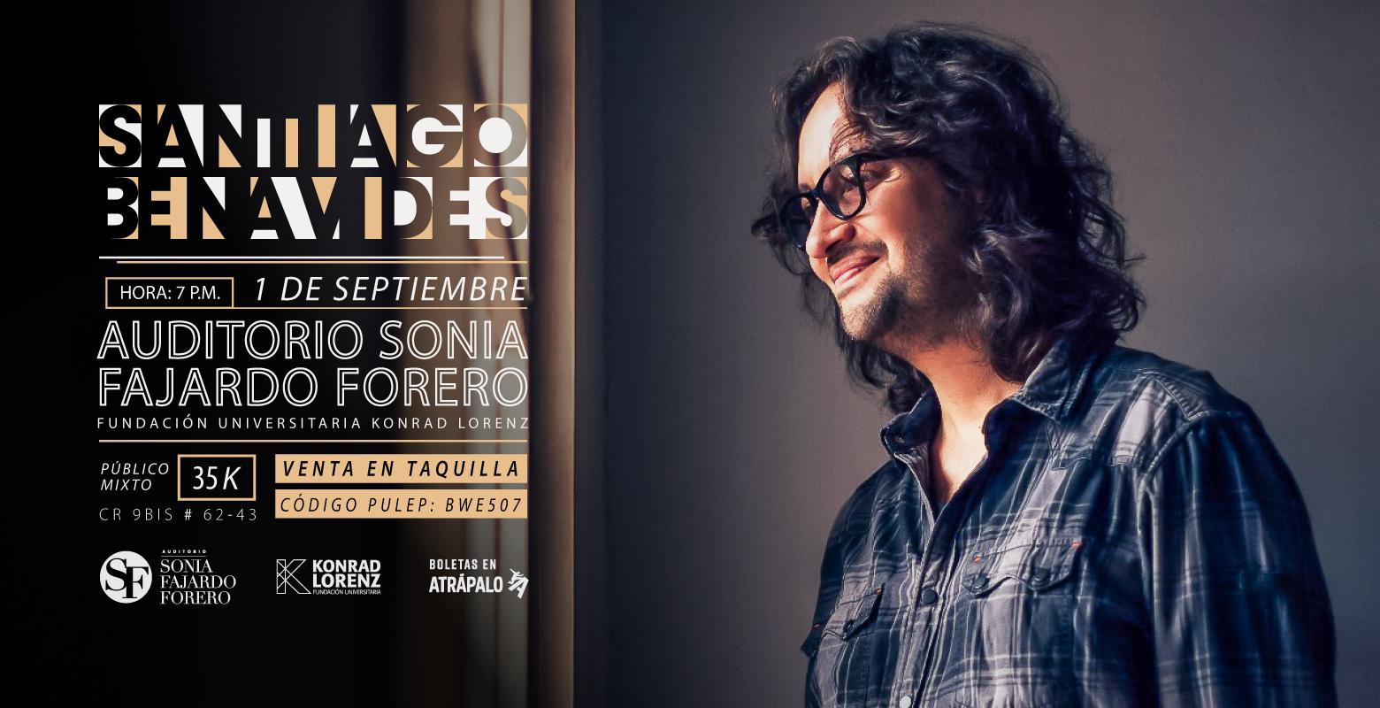 Concierto cantautor con Santiago Benavídes