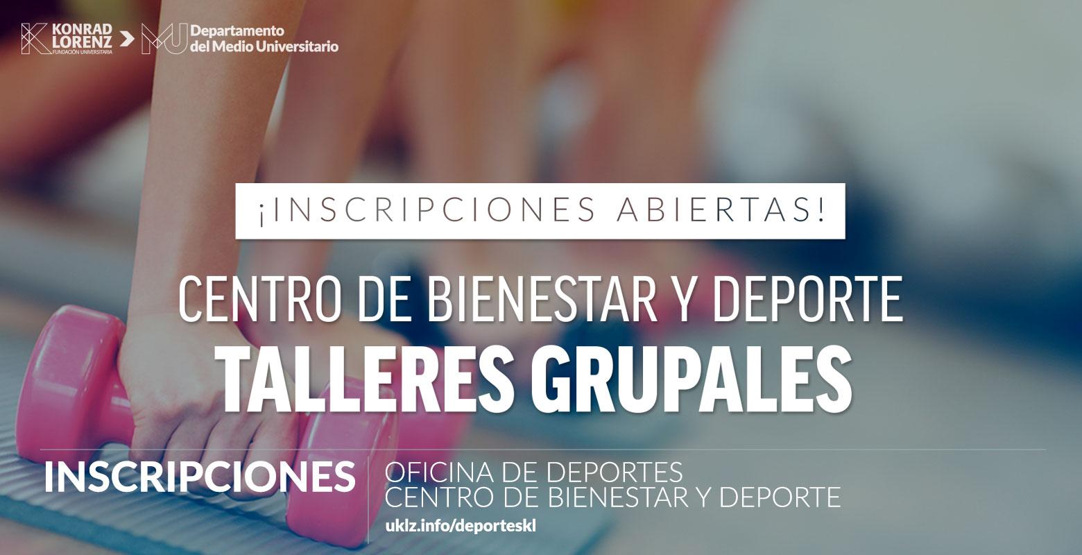 ¡Inscripciones abiertas! Talleres Grupales 2018-2