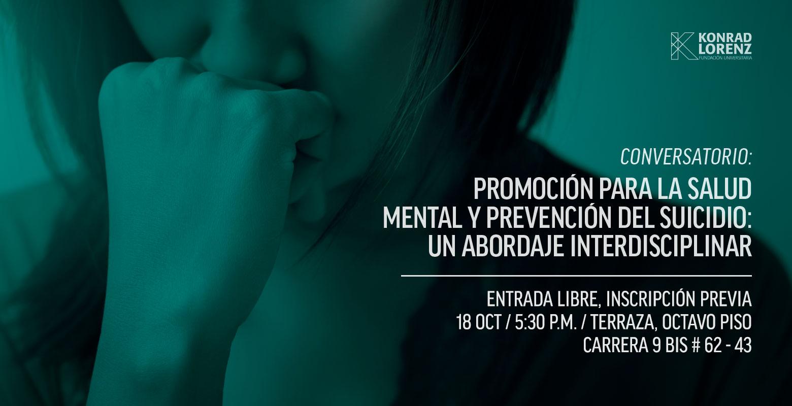 Promoción para la salud mental y prevención del suicidio: un abordaje interdisciplinar