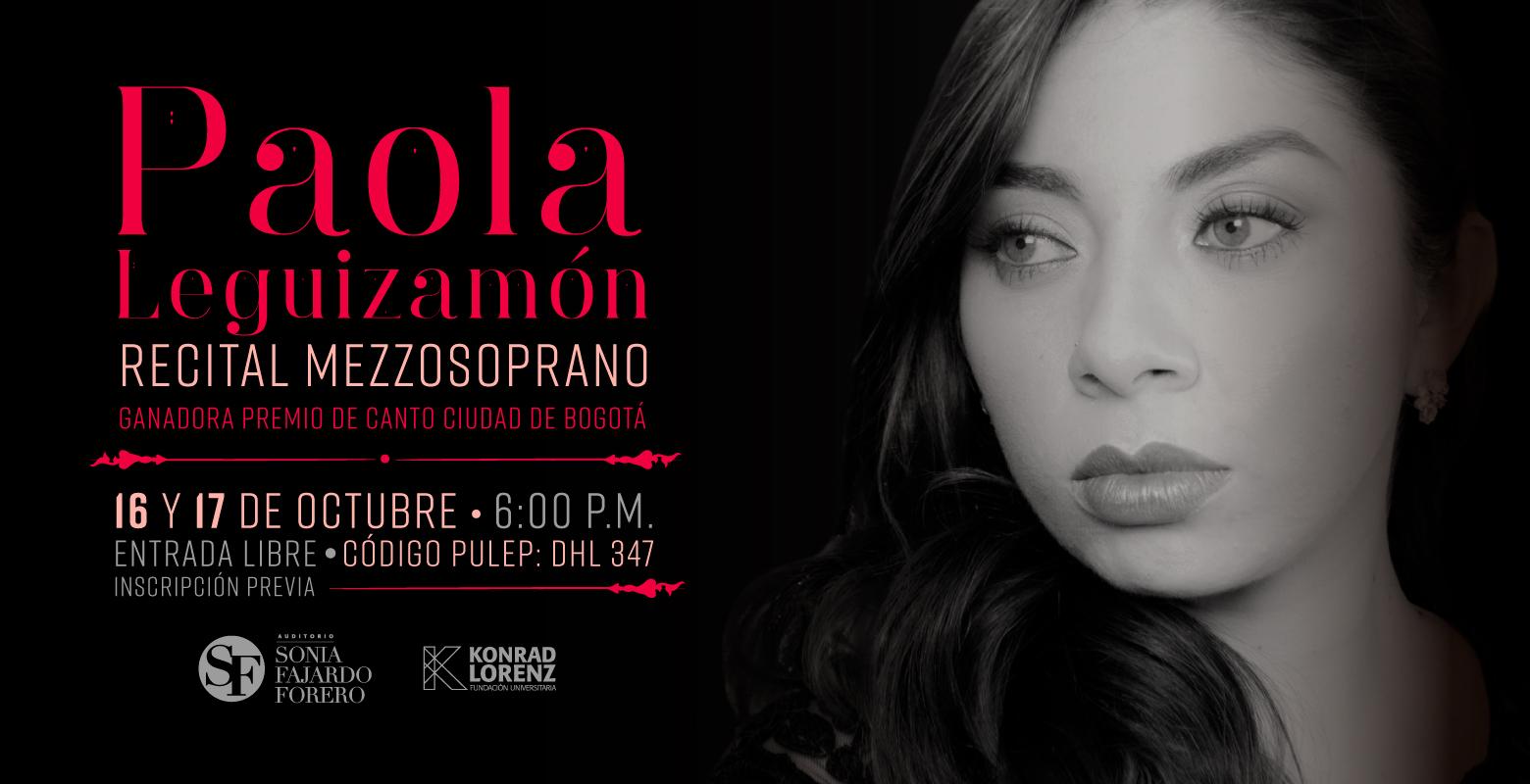 Recital Paola Leguizamón Ganadora del Premio de Canto Ciudad de Bogotá