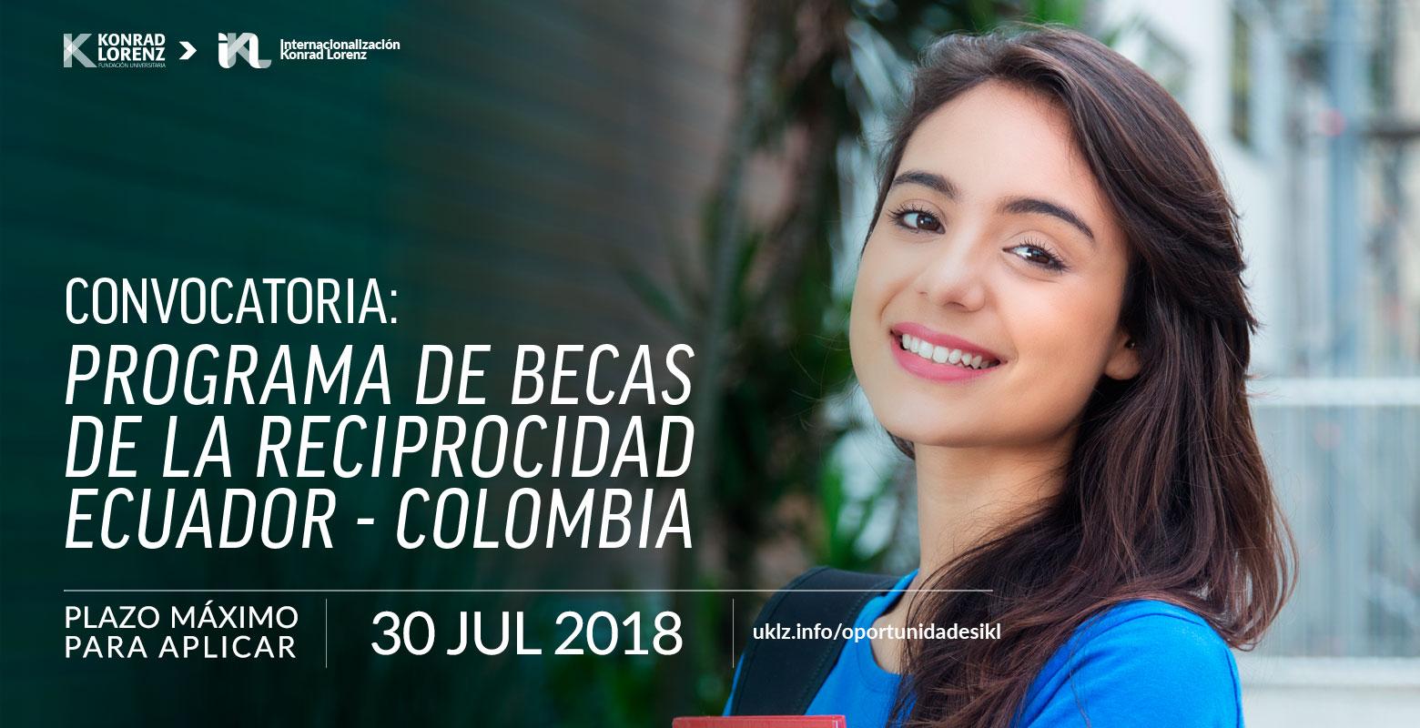 Programa de Becas de la Reciprocidad Ecuador – Colombia 2018