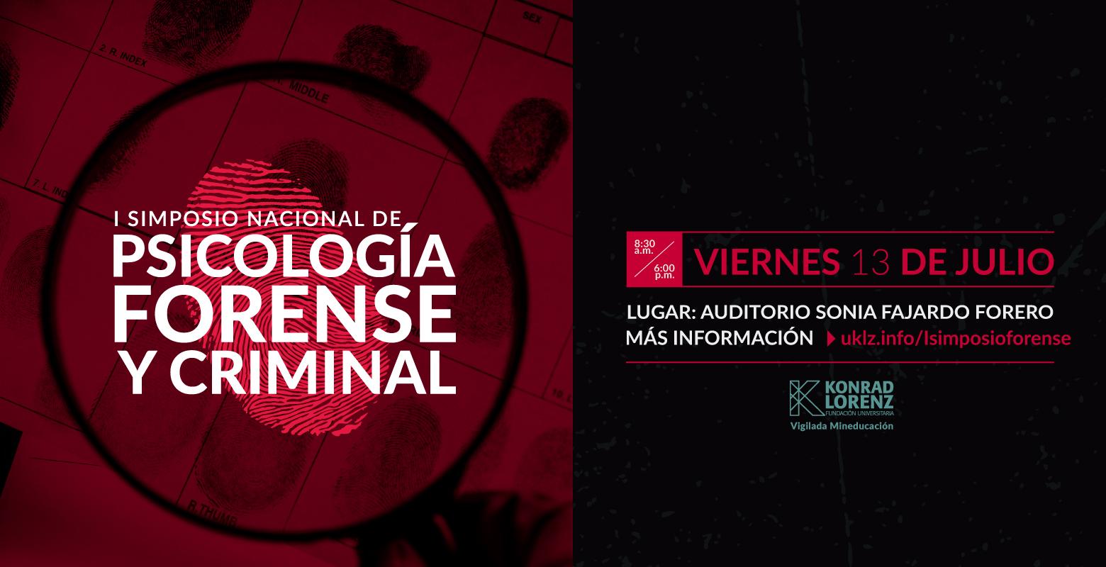 I Simposio Nacional de Psicología Forense Criminal