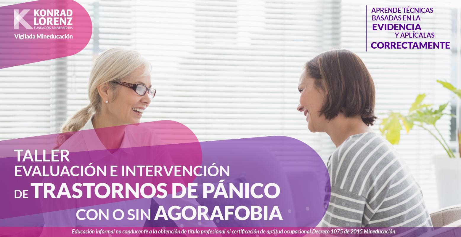 Taller: evaluación e intervención de trastornos de pánico con o sin agorafobia