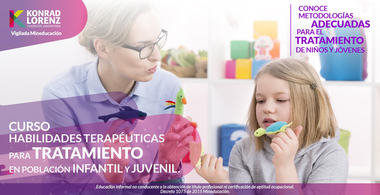 Entrenamiento en habilidades terapéuticas para psicólogos que trabajen en población infantil y juvenil
