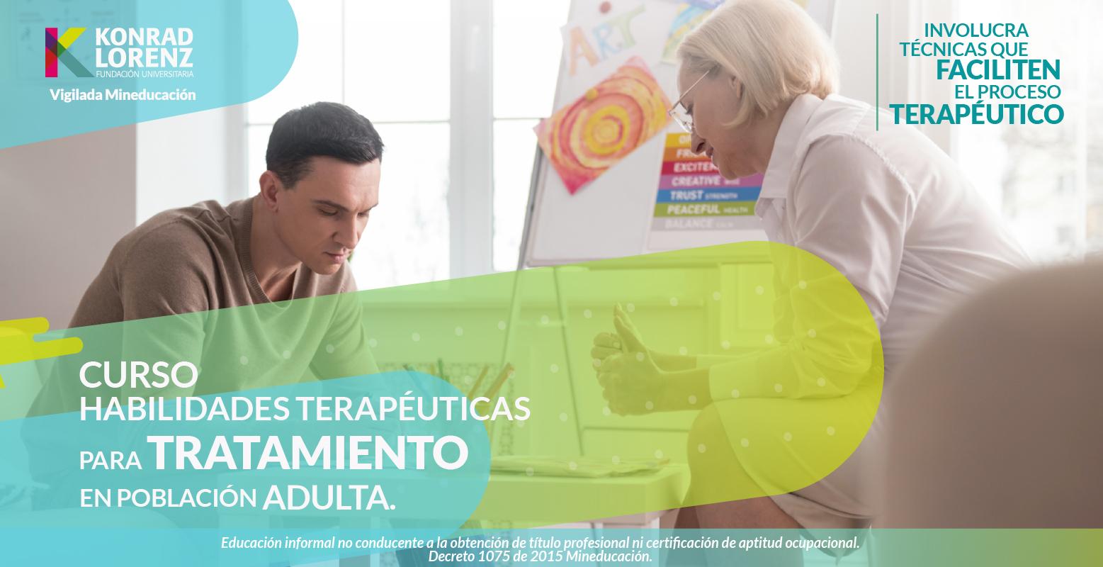 Entrenamiento en Habilidades Terapéuticas para psicólogos que trabajan en población adulta